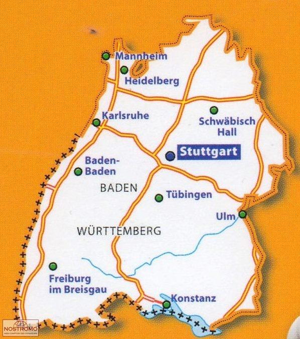 545 Germany Southwest Michelin Road Map Nostromoweb
