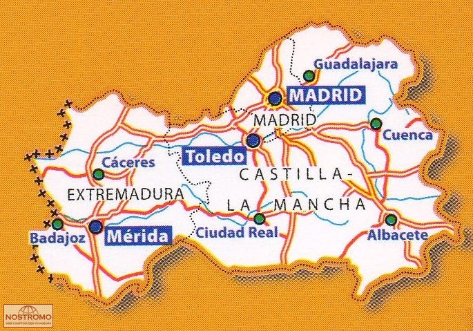 576 CENTRAL SPAIN road map nostromoweb