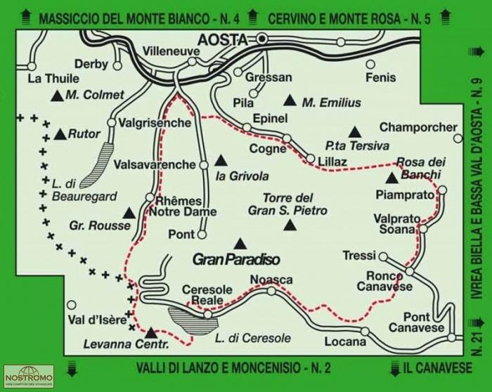 03 PARCO NAZIONALE DEL GRAN PARADISO IGC hiking map nostromoweb