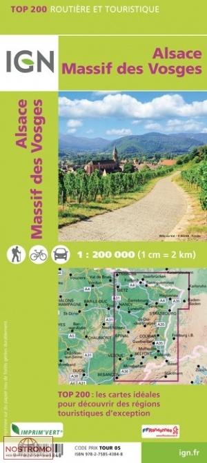 201 ALSACE VOSGES MOUNTAINS IGN travel map nostromoweb