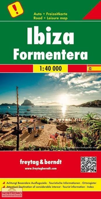 IBIZA - FORMENTERA   carte touristique Freytag & Berndt   nostromoweb