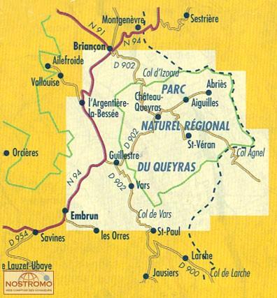 QUEYRAS | carte de randonnée Didier Richard | nostromoweb
