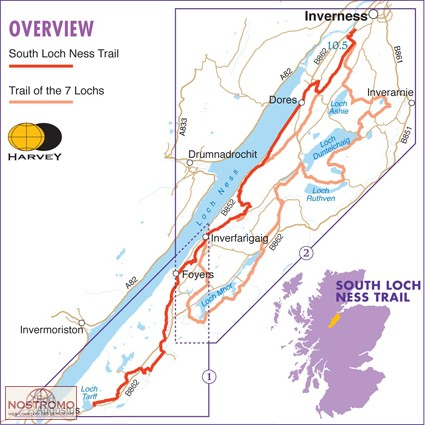 SOUTH LOCH NESS TRAIL | Harvey hiking map | nostromoweb