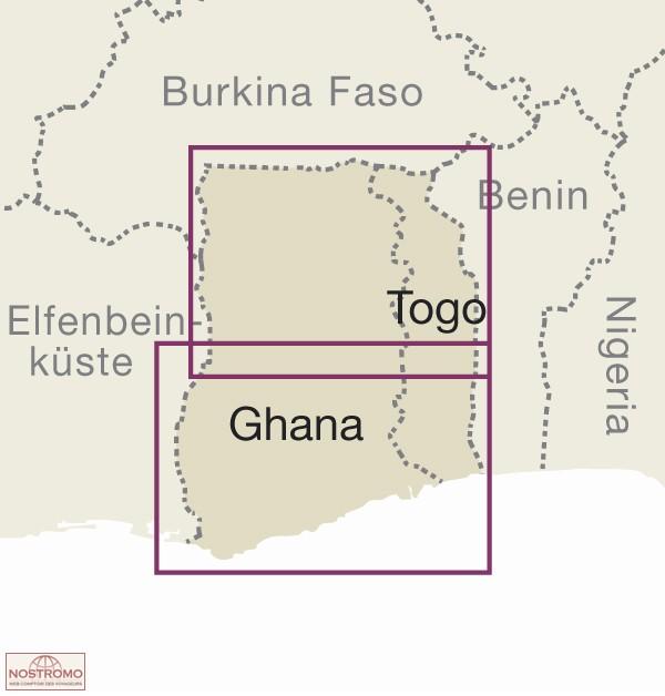 GHANA TOGO road map nostromoweb