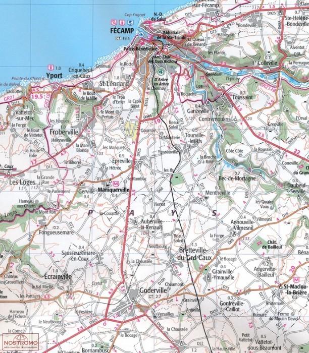 Le célèbre BAIE DE SOMME - CÔTE D'ALBÂTRE 36 | carte touristique IGN #KX_42