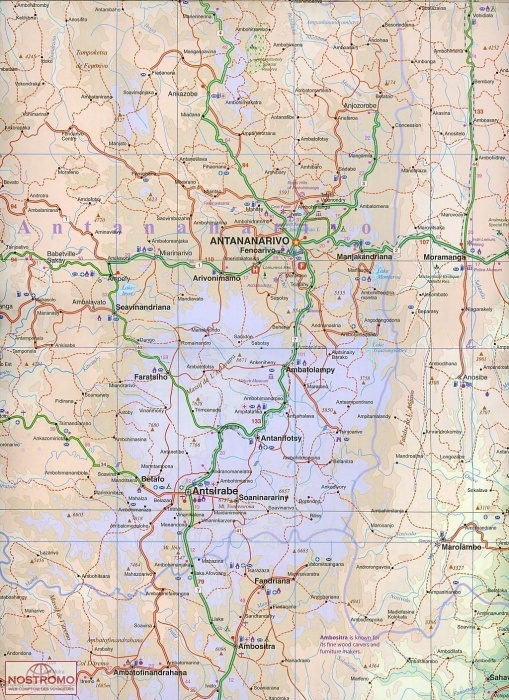 MADAGASCAR   carte touristique ITMB   nostromoweb