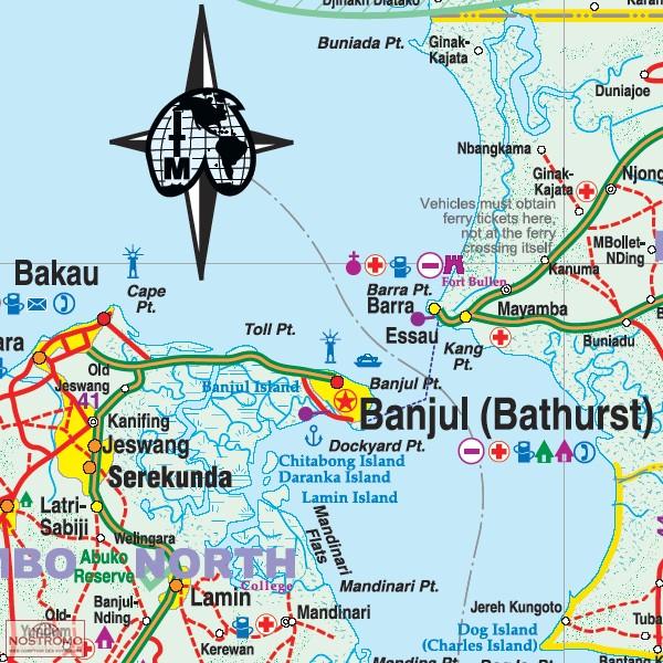 SENEGAL GAMBIA travel map nostromoweb