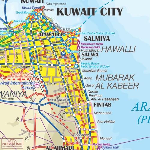 SAUDI ARABIA KUWAIT travel map nostromoweb