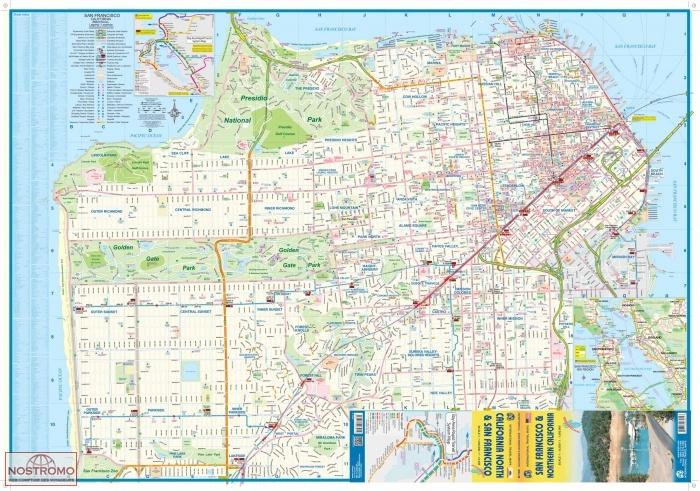 SAN FRANCISCO & NORTHERN CALIFORNIA | travel map | nostromoweb