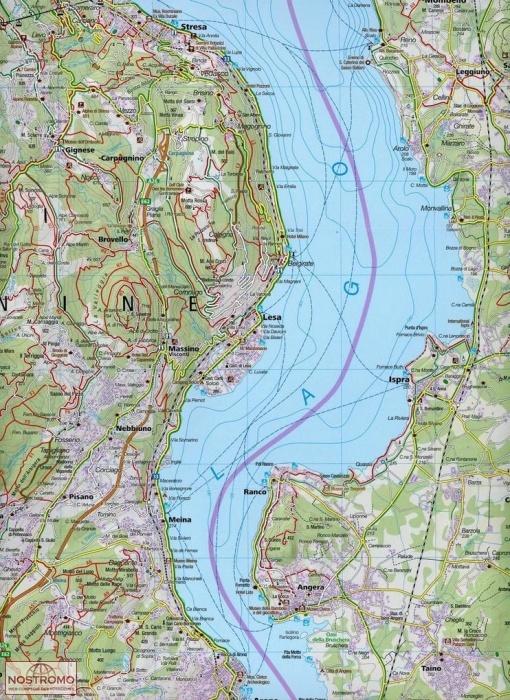 90 LAGO MAGGIORE LAGO DI VARESE Kompass hiking map nostromoweb