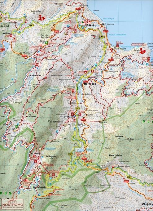 231 LA GOMERA hiking map nostromoweb