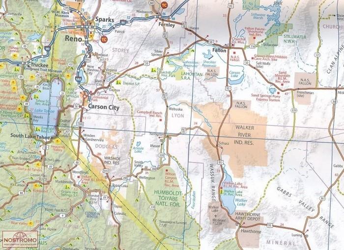 California Nevada 174 Michelin Road Map Nostromoweb