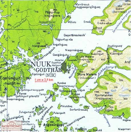06 NUUK GOTHAB topographical map nostromoweb