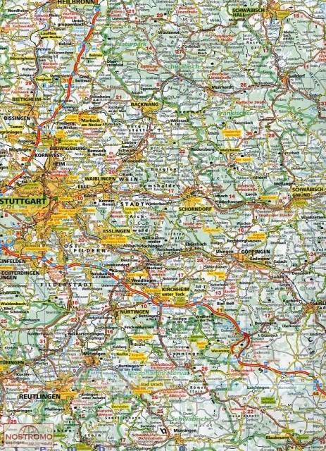 7 BADENWURTTEMBERG road map nostromoweb