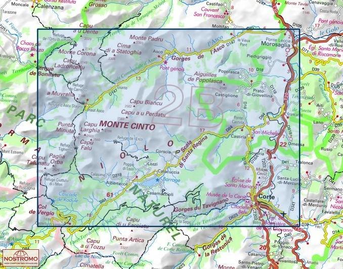 Carte Corse Monte Cinto.4250ot Corte Monte Cinto Ign Hiking Map Nostromoweb