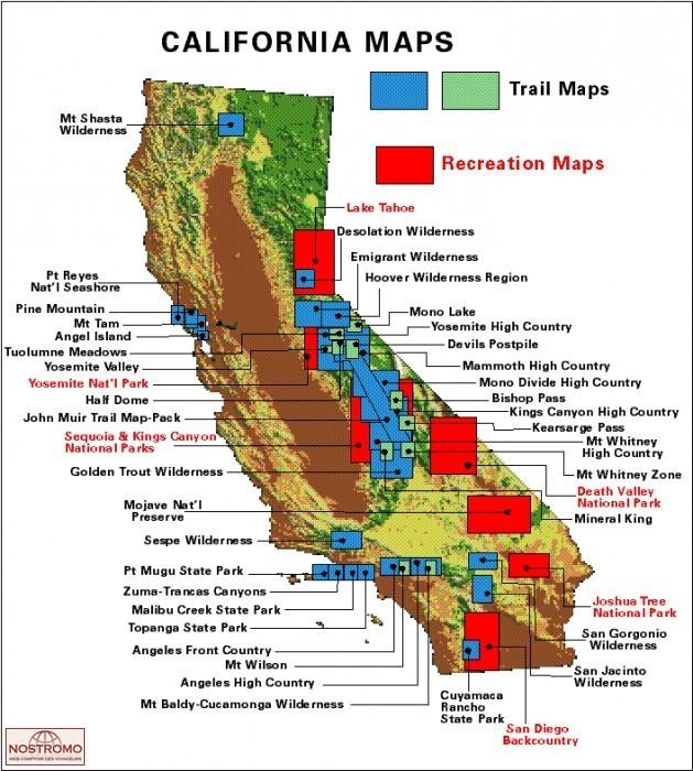 Yosemite National Park Hiking Map Nostromoweb