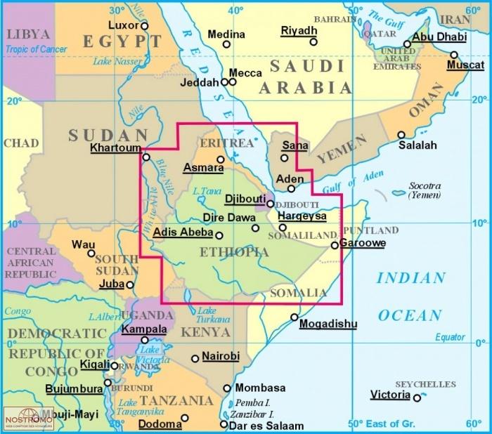 ETHIOPIA travel map nostromoweb