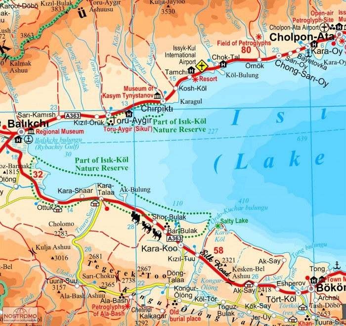 KYRGYZSTAN   travel map   nostromoweb