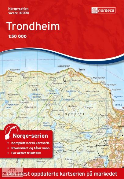 10090 TRONDHEIM Nordeca topographical map nostromoweb