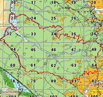 46 AMIENS | carte géologique BRGM | nostromoweb