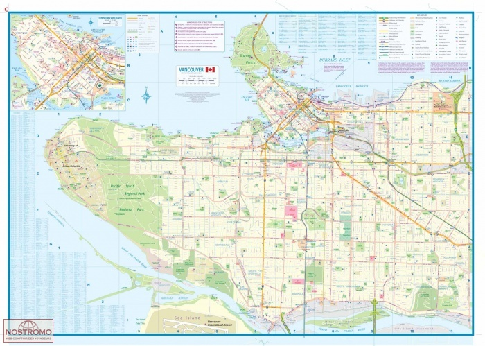 VANCOUVER & GREATER VANCOUVER | plan de ville | nostromoweb