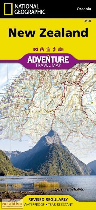 foto de NOUVELLE ZÉLANDE carte touristique National Geographic