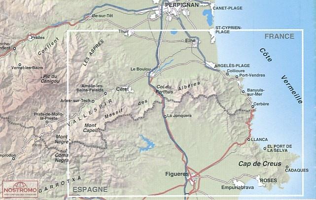 11 COLLIOURE CADAQUES Rando hiking map nostromoweb