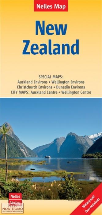 foto de NOUVELLE ZÉLANDE carte touristique Nelles nostromoweb