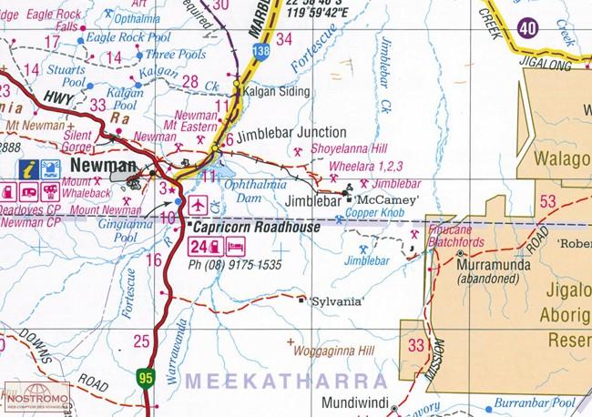 Western Australia 4wd Map.Western Australia Road 4wd Track Atlas