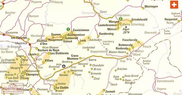 SKI RESORT MAP OF THE ALPS | winter sports map | nostromoweb