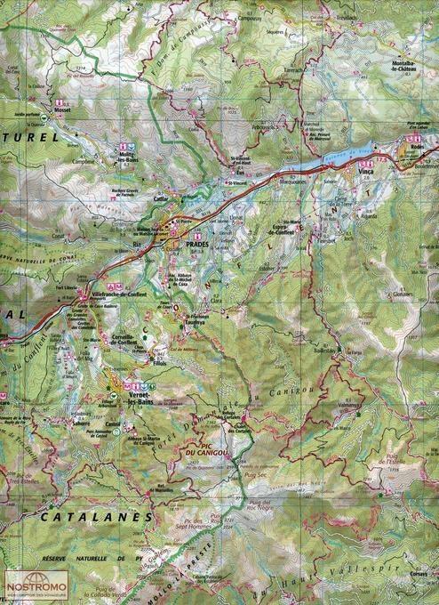 174 CARCASSONNE BEZIERS PERPIGNAN IGN travel map nostromoweb