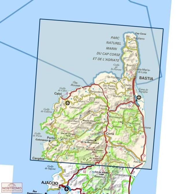 175 BASTIA - CORTE | IGN travel map | nostromoweb