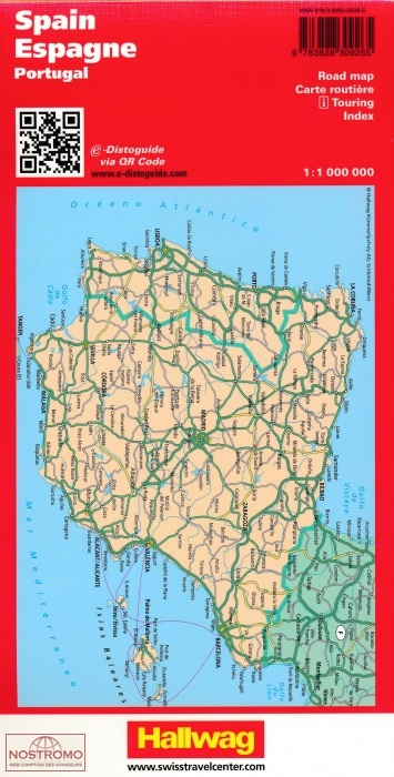 Road Map Of Spain.Spain Portugal
