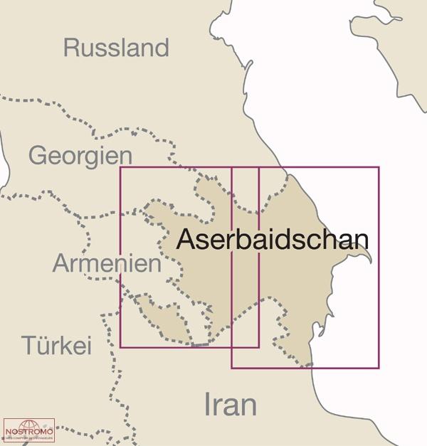 AZERBAIJAN Reise Know How road map nostromoweb