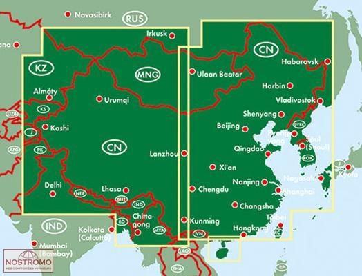carte routiere mongolie
