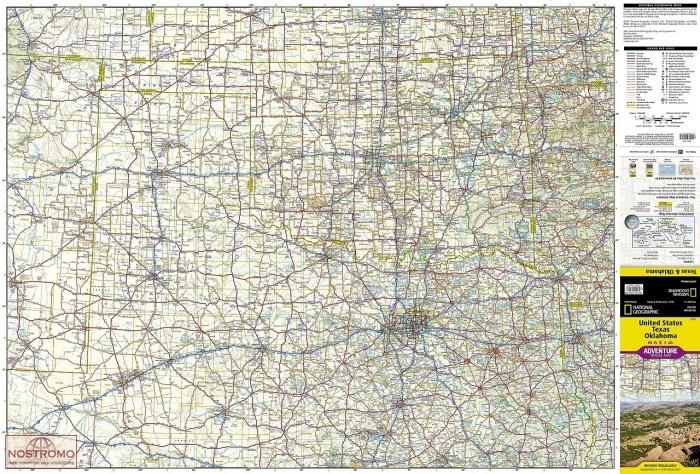 Map Of Texas And Oklahoma.United States Texas Oklahoma Travel Map Nostromoweb