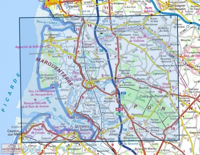 Amante 2106ET BAIE DE SOMME | carte de randonnée IGN | nostromoweb @JS_91