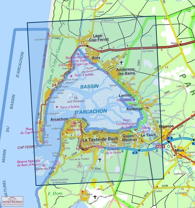 1337ET BASSIN D'ARCACHON | carte de randonnée IGN | nostromoweb