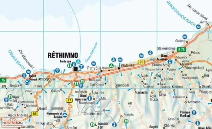 Carte Routiere Crete En Francais.Crete Carte Touristique Borch Nostromoweb