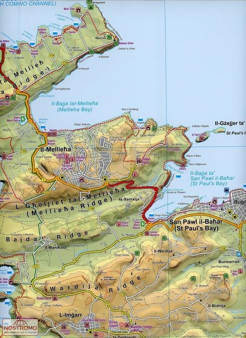 MALTA GOZO Freytag Berndt travel map nostromoweb
