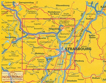 strasbourg et ses environs carte touristique nostromoweb. Black Bedroom Furniture Sets. Home Design Ideas