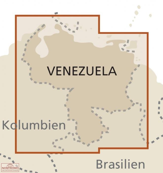 Venezuela road map nostromoweb venezuela sciox Images