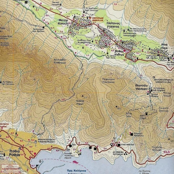 KALYMNOS 323 travel map nostromoweb