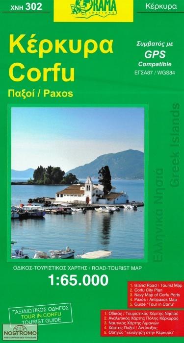 Corfu 302 Orama Travel Map Nostromoweb