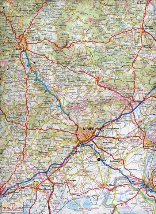 NR13 OCCITANIE CVENNES LANGUEDOC ROUSSILLON IGN road map