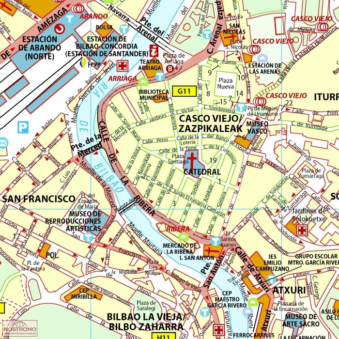 BILBAO 77 city map nostromoweb