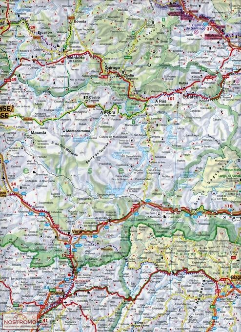 Map Of Northern Spain.Northern Spain St James Way Freytag Berndt Road Map Nostromoweb