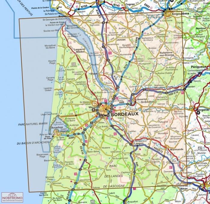 D33 GIRONDE | carte routière IGN | nostromoweb