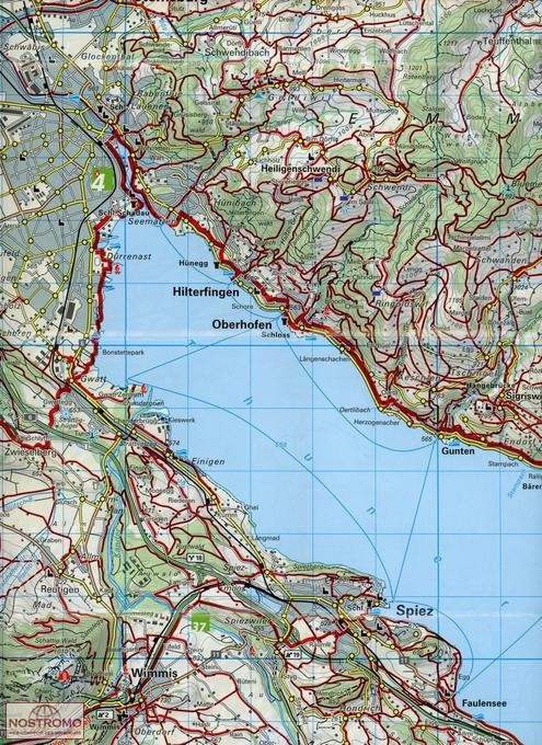JUNGFRAU REGION 84 hiking map nostromoweb