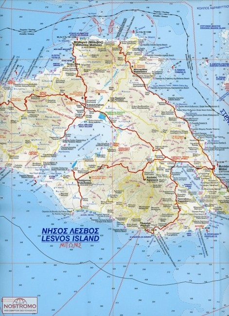 NORTH AEGEAN ISLANDS 061 road map nostromoweb